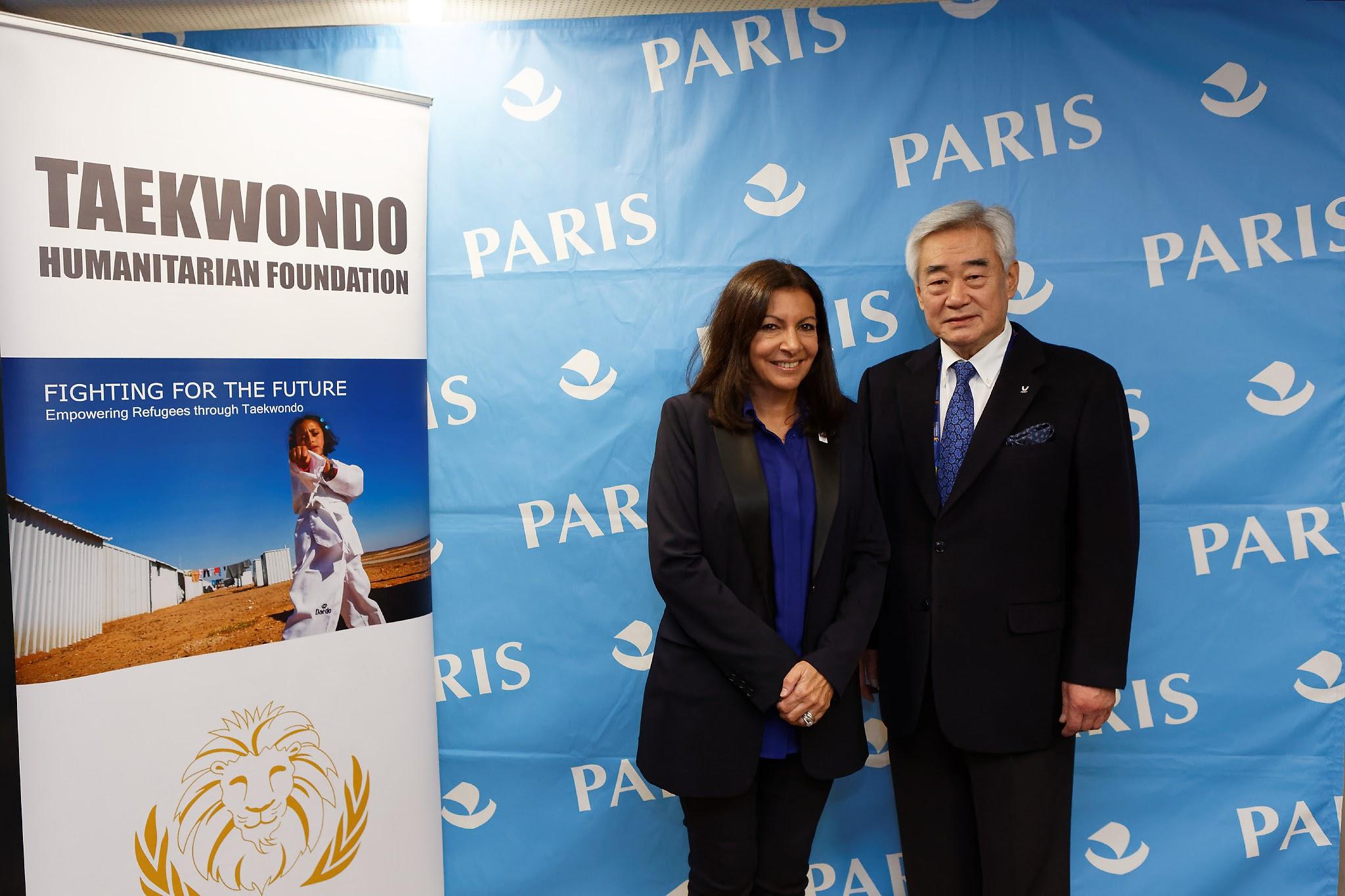 President Choue with Mayor of Paris